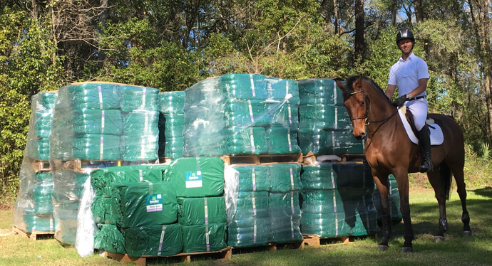 Clark Montgomery with Standlee Premium Western Forage Timothy Grab & Go Compressed Bales