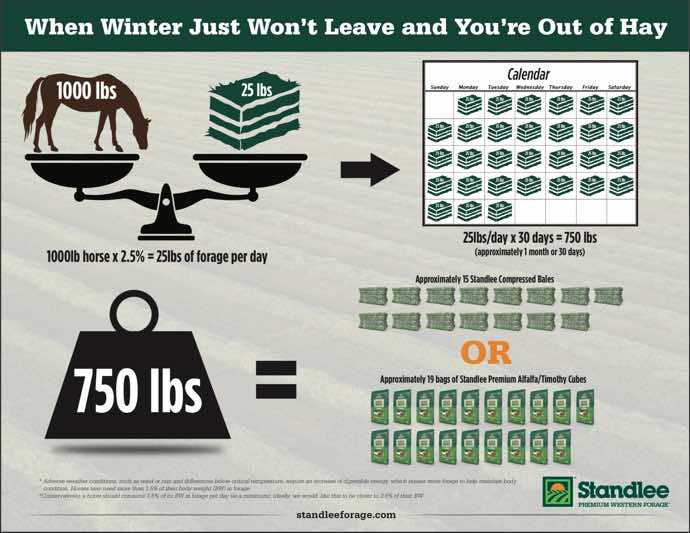 Winter Hay Supply Infographic